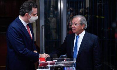 Rodrigo Pacheco e Paulo Guedes