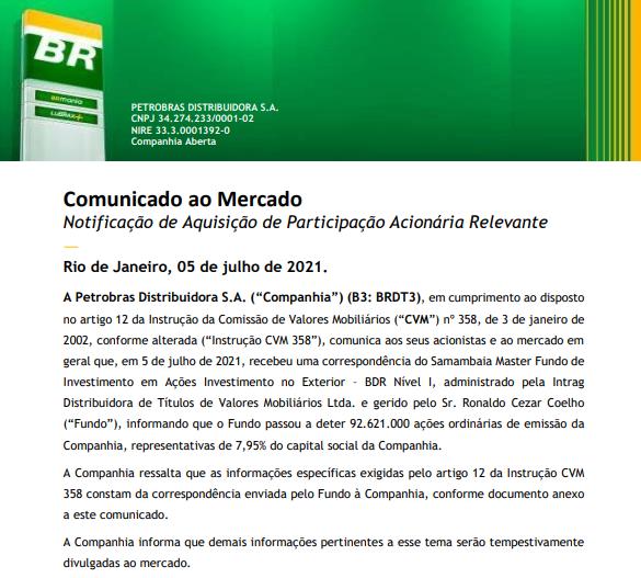 Petrobras assina contrato para venda de ativos de E&P em Alagoas e encerra oferta da BR