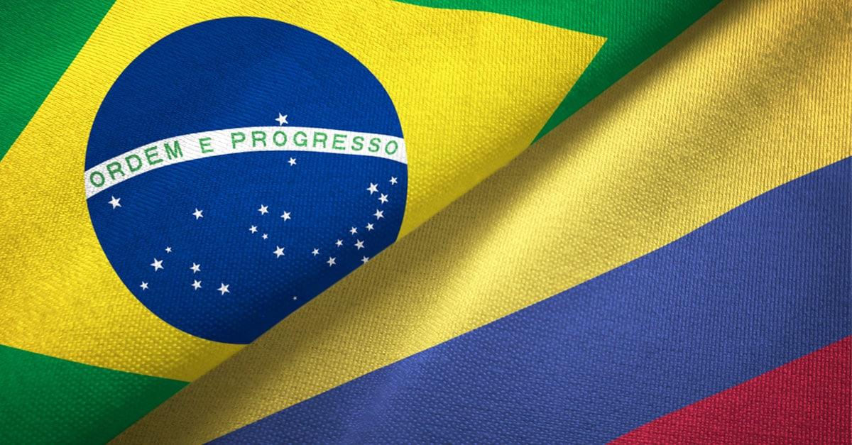 Brasil e Colômbia